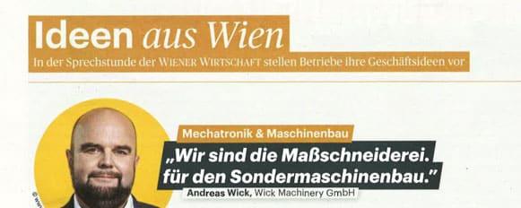 Bildausschnitt aus PDF Wiener Wirtschaft